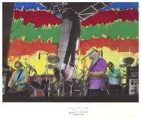 Grateful Dead: Bob Weir, Jerry Garcia, and Mickey Hart: hand-colored image