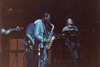 Ornette Coleman performing with the Grateful Dead: Ornette Coleman, Jerry Garcia, Vince Welnick