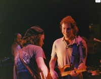Kingfish: Steve Kimock and Bob Weir, with Steve Evans in the background