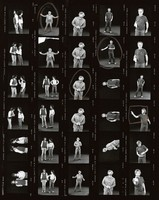 Grateful Dead members and others: contact sheet with 30 images