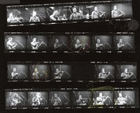 Vassar Clements, ca. 1970s: contact sheet with 23 images