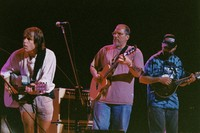 "Bob Weir, Jorma Kaukonen, and Michael Falzarano performing ""She Belongs To Me"" during the acoustic jam"