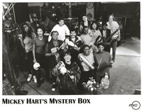 Mickey Hart's Mystery Box: publicity photo of Hart with 12 band members