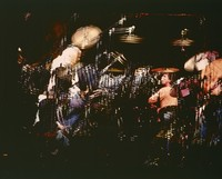 Grateful Dead: Bill Kreutzmann and Mickey Hart: multiple exposure
