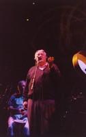 """Ken Nordine, with Bill Kreutzmann, reciting either """"Flibberty Jib"""" or """"The Island"""" during """"Drumz"""""""