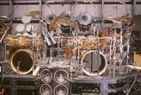 Grateful Dead: Kreutzmann's and Hart's drum kits, ca. 1988