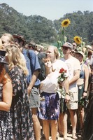 Memorial for Jerry Garcia: mourners