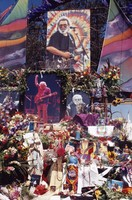 Memorial for Jerry Garcia: altar display items