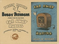 Bobby (Robert M.) Petersen reads from his new book, Far Away Radios / Jambalaya - Sunday, November 23 [1980]