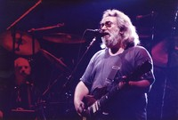 Grateful Dead: Jerry Garcia, with Bill Kreutzmann in the background