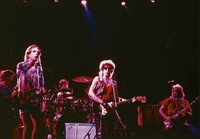 Dylan and the Dead, ca. 1987: Phil Lesh, Bob Weir, Mickey Hart, Bob Dylan, and Jerry Garcia
