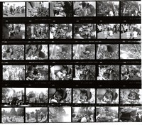 "Grateful Dead at the ""Palo Alto Be-In"": contact sheet of 36 images"
