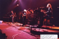 Grateful Dead: Bob Weir, Phil Lesh, Jerry Garcia, Vince Welnick, with Bill Kreutzmann and Mickey Hart obscured
