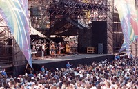 Grateful Dead at Autzen Stadium: distant view of the stage