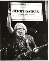 Jerry Garcia: double exposure with the marquee at the Lunt-Fontanna Theatre
