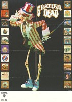 Grateful Dead [Uncle Sam Skeleton and album covers: Arista, Warner Bros. Records]