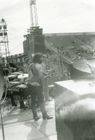 Grateful Dead: Bill Kreutzmann, Bob Weir, Jerry Garcia, and Phil Lesh, from the side