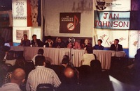 """In Concert Against AIDS"": publicity panel"