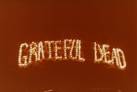 """Grateful Dead"" in lights, Warfield Theater, ca. 1980"