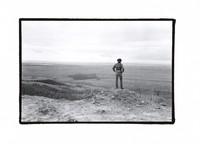 John Perry Barlow at his Bar Cross ranch, ca. 1970s