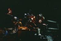 Grateful Dead: Bill Kreutzmann, Mickey Hart, unidentified musician, Bob Weir, Jerry Garcia, unidentified keyboardist, Phil Lesh