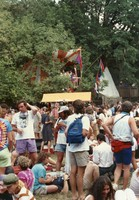 Deadheads at a park gathering in an unidentified city, ca. 1990