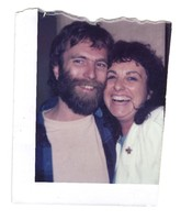 Brent Mydland with an unidentified woman, ca. 1987