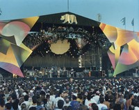 Grateful Dead with full outside stage setup (Greek Theatre?)
