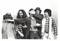 Keith Godchaux, Jerry Garcia, Bob Weir, Phil Lesh and Mickey Hart at the 1978 Bammie awards, where the Grateful Dead won Best Group