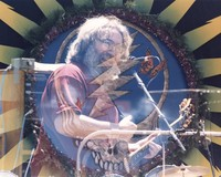 "Jerry Garcia performing ""Bertha"": double exposure"