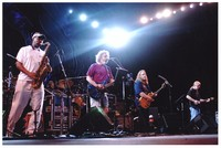 The Dead and Branford Marsalis: Branford Marsalis, Bob Weir, Warren Haynes, Jimmy Herring, and Mickey Hart in the background
