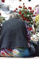 Memorial for Jerry Garcia: mourner