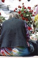 Memorial for Jerry Garcia: mourner