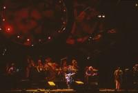 Grateful Dead with Ornette Coleman: Phil Lesh, Bill Kreutzmann, Mickey Hart, Bob Weir, Jerry Garcia, unidentified, Ornette Coleman, Vince Welnick