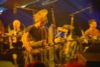 Grateful Dead: Bill Kreutzmann, Bob Weir, and Mickey Hart: multiple exposure