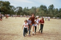 Bob Weir with unidentified children