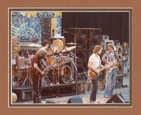 Grateful Dead, ca. 1980s: Bill Kreutzmann, Jerry Garcia, Mickey Hart, Bob Weir, Phil Lesh