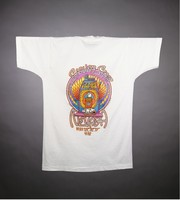 "T-shirt: ""Las Vegas"" - skeleton baccarat dealer. Back: ""Silver State / Nevada / May 29th, 30th, 31st"" - slot machine"