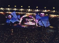 Grateful Dead: distant view of the stage in Giants Stadium