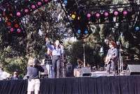 Bill Graham Memorial (Laughter, Love And Music): Jonathan Cain (partially obscured), Steve Perry, and Neal Schon