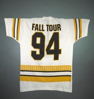 "T-shirt: Bear hockey player. Back: ""Fall Tour 94"""