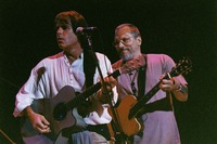 "Bob Weir and Jorma Kaukonen performing ""She Belongs To Me"" during the acoustic jam"