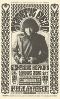 Grateful Dead - Presented in San Francisco by Bill Graham - Lightning Hopkins, Loading Zone - Yardbirds, Country Joe and the Fish - Fillmore Auditorium - October 21-23 [1966]