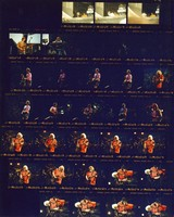 Grateful Dead and Bob Dylan at Franklin County Field: contact sheet with 32 images