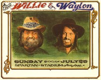 Willie & Waylon - Only No. California Appearance. July 25, 1982, Spartan Stadium, San Jose