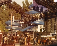 "Grateful Dead: Phil Lesh, Bill Kreutzmann, Bob Weir, Mickey Hart, Jerry Garcia, Brent Mydland performing ""Bertha"""