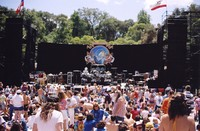 Grateful Dead at Frost Amphitheatre: audience and stage