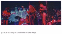 """Grateful Dead: Jerry Garcia, Bill Kreutzmann, Phil Lesh, Bob Weir and Mickey Hart performing """"That's It For The Other One"""""""
