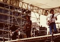 "Grateful Dead, 15th anniversary: Jerry Garcia, Bob Weir and Phil Lesh: photo by ""Katie"""