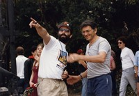 Bill Graham with an unidentified man